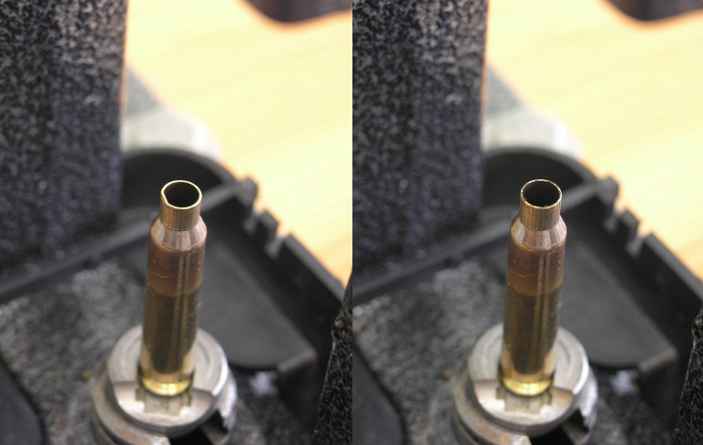 Before and after on an uneven neck. The expander rounds them out nicely.