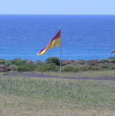 Wind flag showing 10 mph
